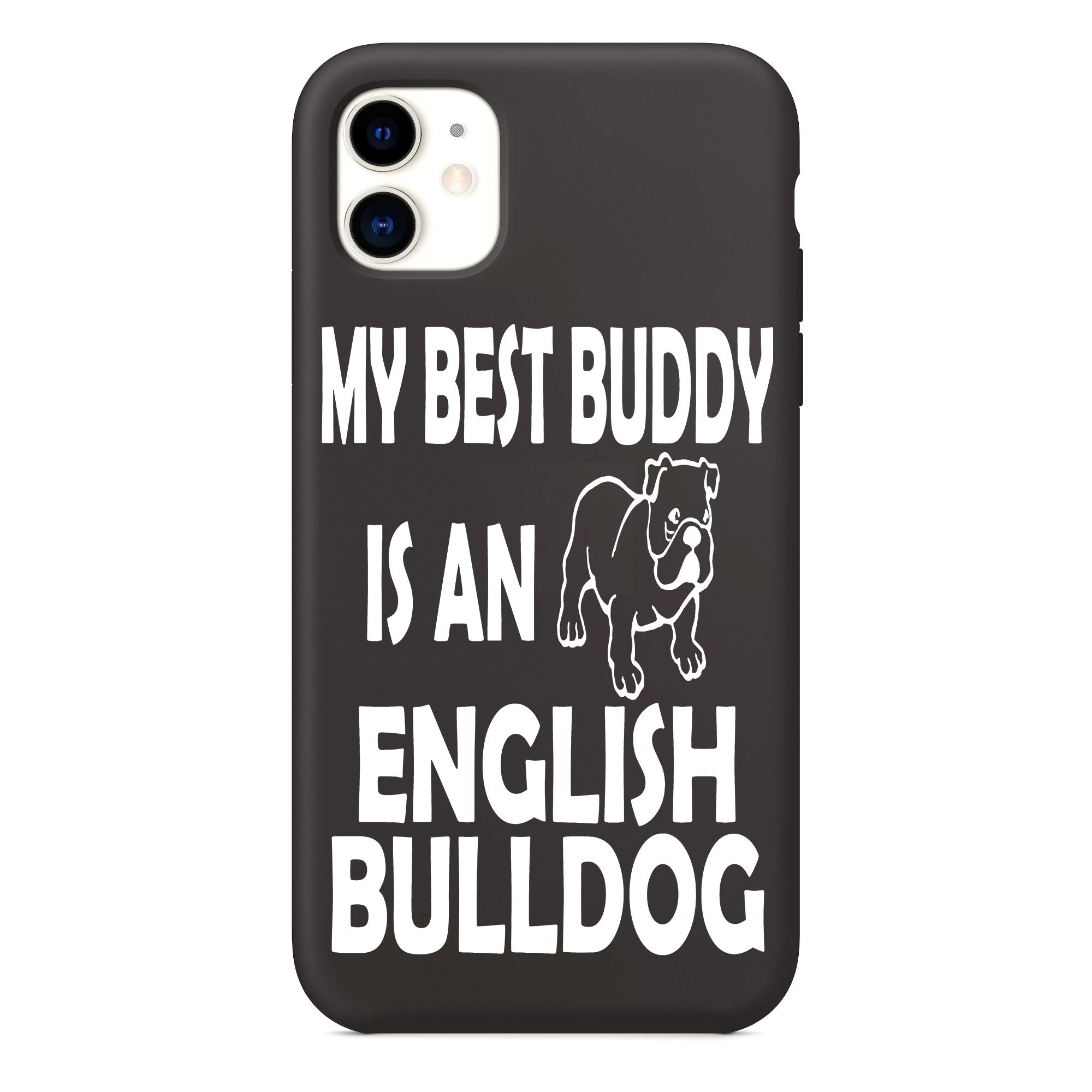 Il mio migliore amico è una custodia per iPhone Bulldog inglese, il mio migliore amico è una custodia per iPhone 11 con illustrazioni di Bulldog ...