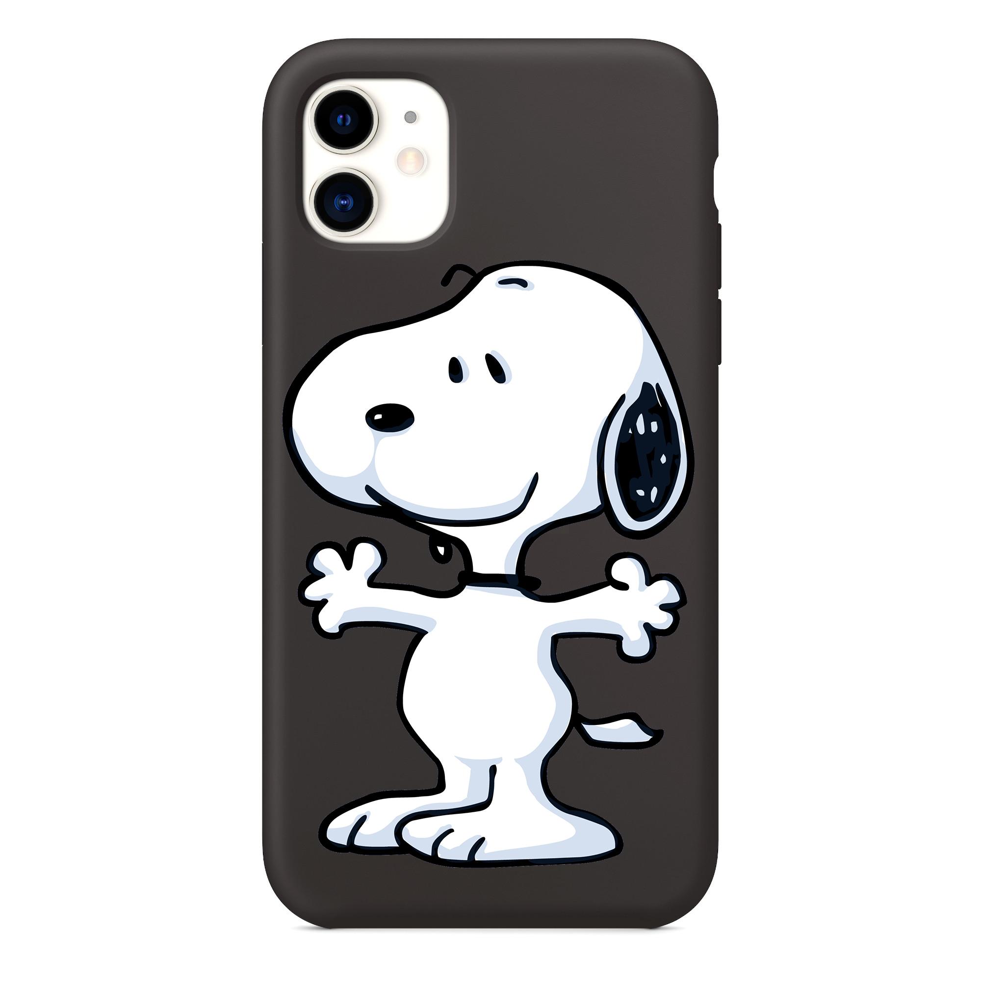 Snoopy Peanuts pour iPhone, Snoopy Peanuts Clipart iPhone 11 coque de téléphone
